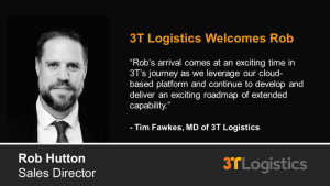 3T Logistics welcomes TMS Sales Director Rob Hutton